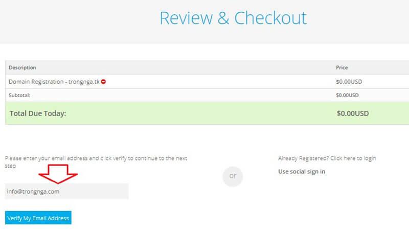 đăng ký miễn phí tên miền