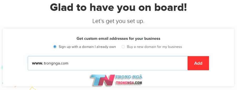 Miễn phí email tên miền zoho