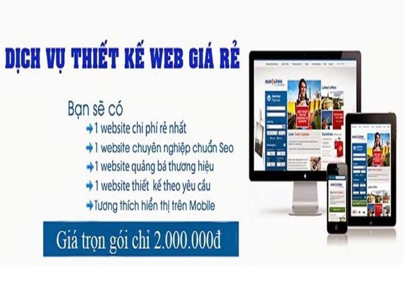 Thiết kế website trọn gói 2tr
