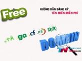 Hướng dẫn đăng ký tên miền miễn phí